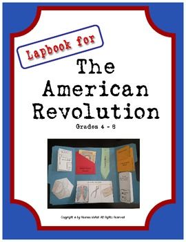 Lapbook/Interactive Notebook foldables for the American Revolution