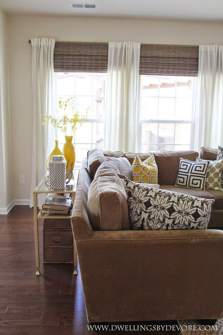 Privacy blinds for windows - Dwellings By Devore Bamboo Shades To Make Your Windows Look Larger
