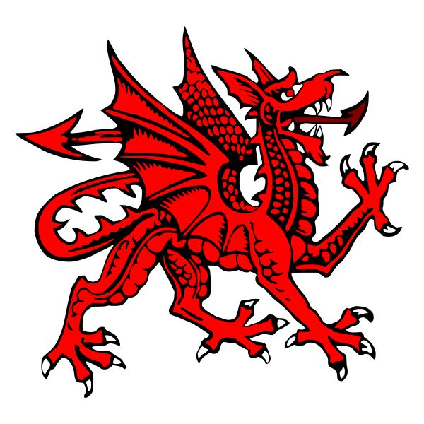 "The Welsh Dragon – Welsh: Y Ddraig Goch (""the red dragon"") pronounced [ə ˈðraiɡ ˈɡoːχ] – appears on the national flag of Wales. The flag is also called Y Ddraig Goch. The oldest recorded use of the dragon to symbolise Wales is from the Historia Brittonum, written around 829 AD, but it is popularly supposed to have been the battle standard of King Arthur and other ancient Celtic leaders."