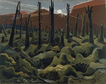 """""""We are Making a New World"""" by Paul Nash (1918). Nash's paintings from World War One contained an explicit and angry anti-war message."""