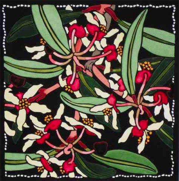 Pepper-berry Blossom by Kit Hiller - printmaker - Tasmanian artist