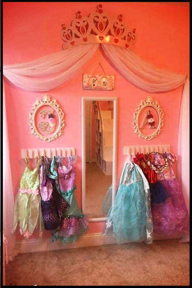 Little Girls Bedroom Decorating Ideas Make A Princess Dress Up Area In 2020 Girls Bedroom Themes Toddler Bedroom Themes Girl Bedroom Decor