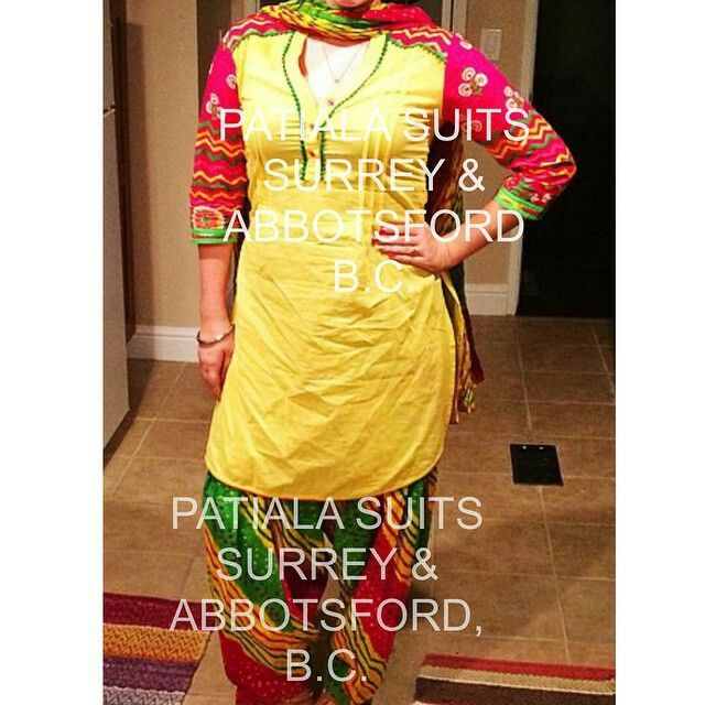 Slip into something colourful  This beautiful multi-color cotton suit is an eye catching piece that comes with a full printed Patiala salwar that consist of a variety of colors❗️It comes with a plain yellow kameez with printed arms and a finished printed dupatta  Don't be the little majority, be different Please email us at patialasuits179@gmail.com or give us a call at 1(604)-780-8190 for pricing inquiries #patialasuits #punjabisuits #punjabiculture #patialashahisuits #multicolor spring…