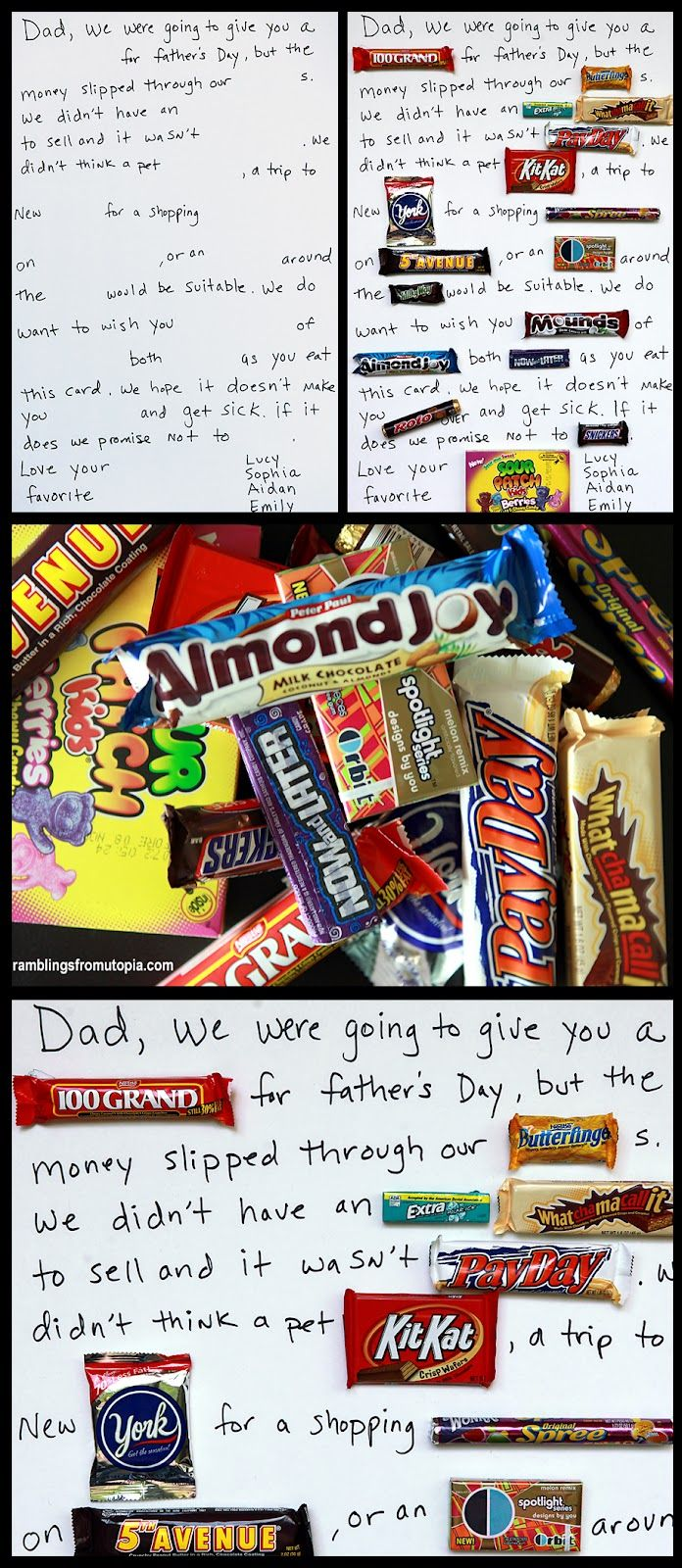 {Sweetest Card Ever} Ok, I know Father's Day has passed, but this concept is too adorable to not share!