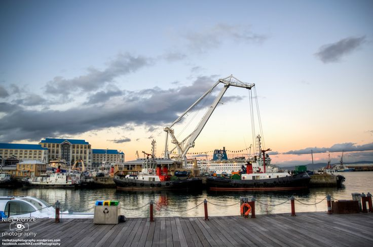 HDR photo of the harbour at the V&A Waterfront