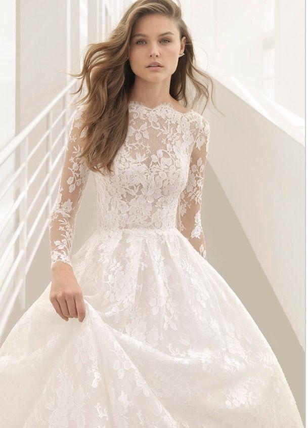 Boat Neck Princess Wedding Dress