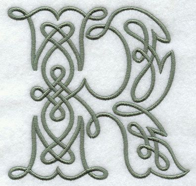 Celtic Knotwork Letter R - 5 Inch