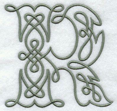 Celtic Knotwork Letter R - 5 Inch