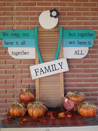Family Shutter Angel.  Garden Art