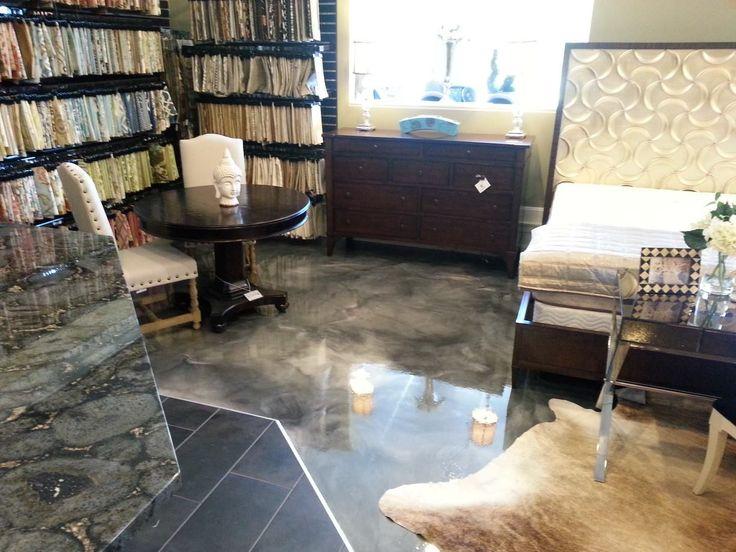 Pearl Polished Steel Marbled Epoxy Floor