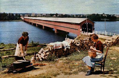"""Le blogue des """"Bleuets du Lac Saint-Jean"""": Nos ponts couverts disparus"""
