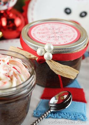 Peppermint Fudge Cupcake Jars {& striped frosting tutorial} - Our Best Bites