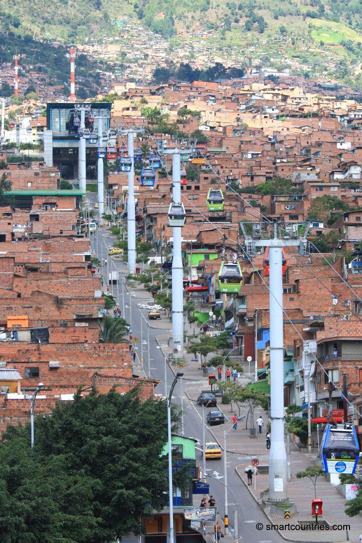 Estación Santo Domingo de la línea del l Metrocable de Medellín Colombia. Si quieres ver la crónica pulsa el siguiente enlace ..............................  http://www.chispaisas.info/colombia3.htm