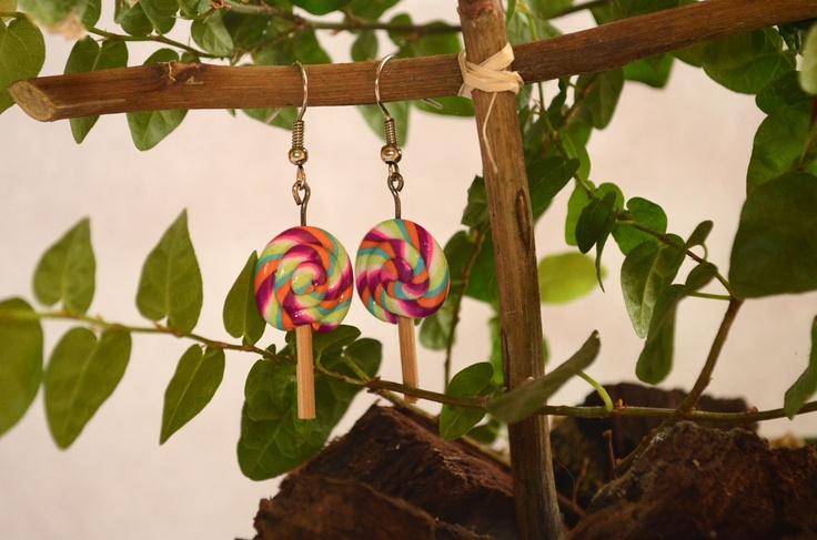Aros lollypop de colores ganchos de plata $5000  #earring #aros #lollypop #jewerly #accesorio