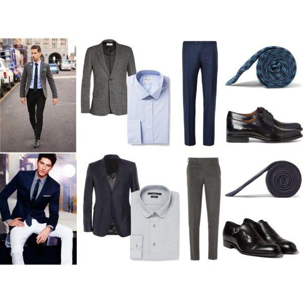 Consejos para combinar el azul marino con el color gris #Guardarropa hombre
