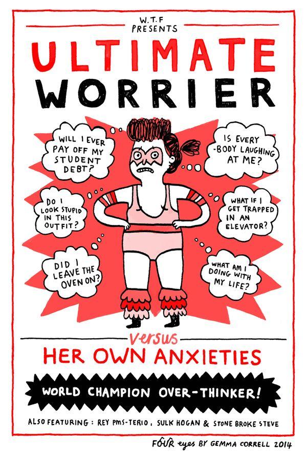 The Ultimate Worrier, via Four Eyes Comic Strip on GoComics.com
