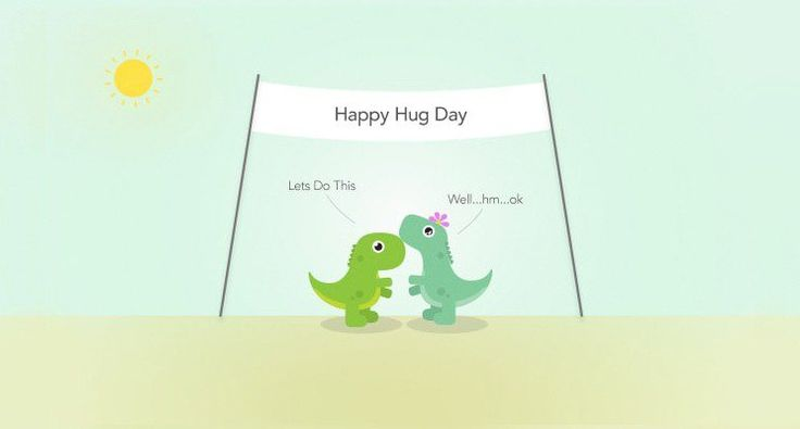 Say it with a hug.   Happy #HugDay to you! #ValentinesDay