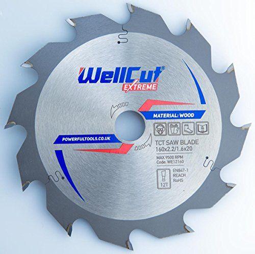 WELLCUT EXPERT lame de scie circulaire 160 x 20 mm x 12T dents alésage et convient pour Festool, BOSCH, Metabo, DeWalt etc..: Diamètre :…