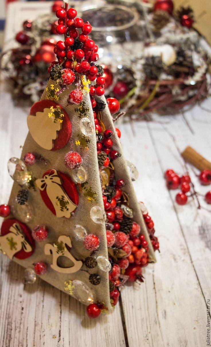 """Купить Новогодняя елка """"Ягодная красавица"""" - ярко-красный, елка, новогодняя елка, ягоды, ягодный"""