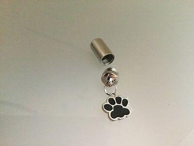 dog paw pet cremation urn cylinder memorial keepsake pendant keychain bracelet