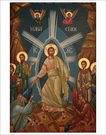 greek orthodox icon of christs resurrection.  Image Copyright © Godong  Watermarking and Website Address do not appear on finished products  Printed items are produced from higher quality original artwork