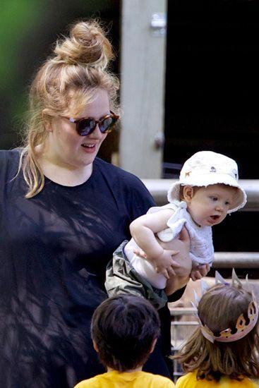 Adele & her baby Angelo James.