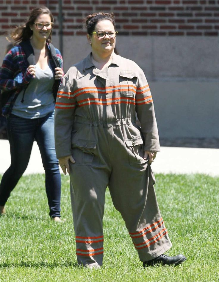 Your first look at @MelissaMcCarthy in her #Ghostbusters uniform