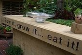 Sow it, grow it...eat it! natural-and-playscapesGardens Ideas, Growing It Eating, Sowing It Growing, Gardens Vegetarian, Decks, Green, Gardens Spaces, Nature Playscape, Gardens Plans