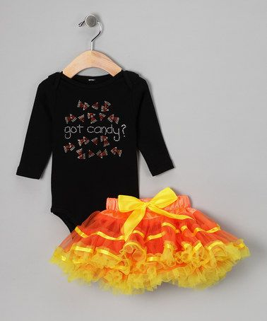 Black 'Got Candy?' Tee & Orange Pettiskirt  http://www.zulily.com/invite/jpalmer893/p/black-got-candy-tee-orange-pettiskirt-infant-toddler-24702-2015546.html?tid=referral_pinterest