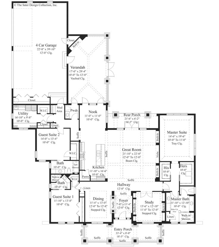 241 best empty nest floor plan images on pinterest house for House plans for empty nesters