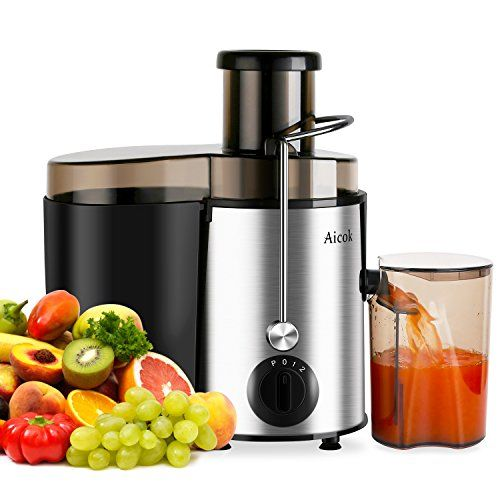 Aicok Juicer Juice Extractor High Speed for Fruit and Vegetables Dual Speed Setting Centrifugal Fruit