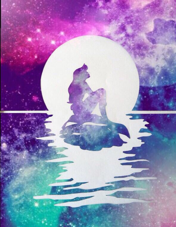 Disney Princess silhouette galaxy