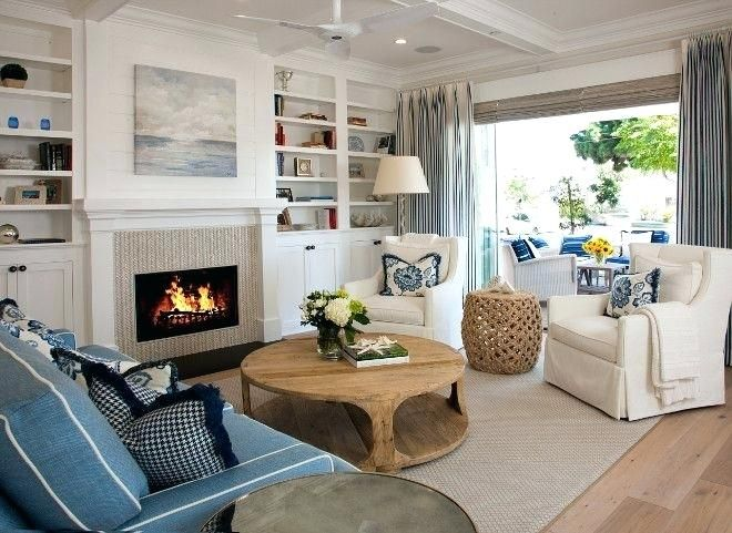 Image Result For Gas Wall Fireplace Ideas Coastal Style Living Room Coastal Living Rooms Living Room With Fireplace