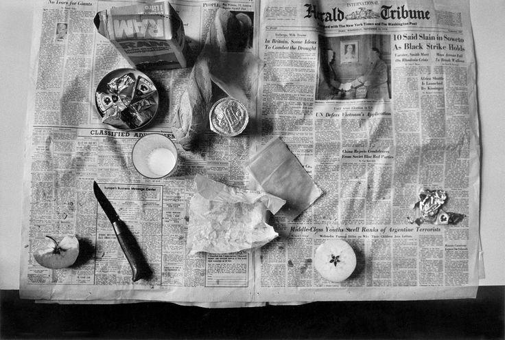 Still Life (Newspaper), France, 1976; photo by Josef Koudelka