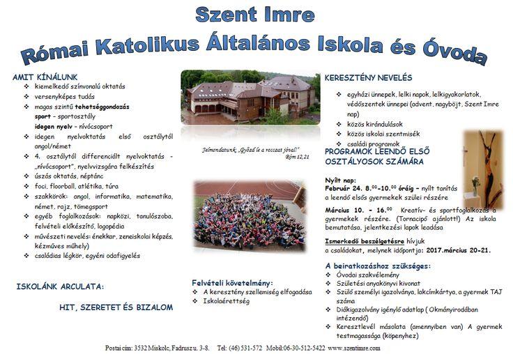 Szent Imre Római Katolikus Általános Iskola -- Miskolc