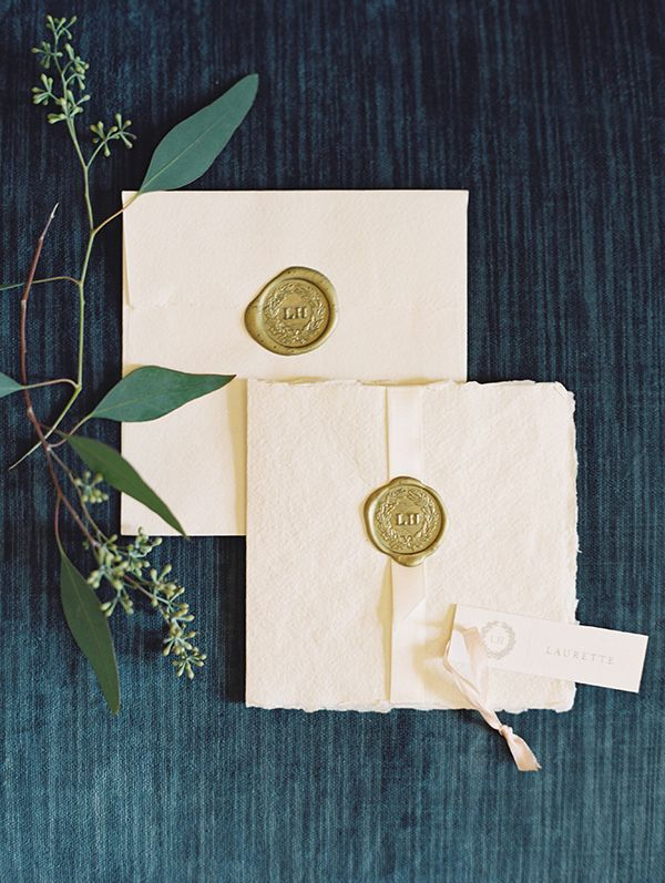 Gold wax seals and deckling | Photo by Laura Gordon