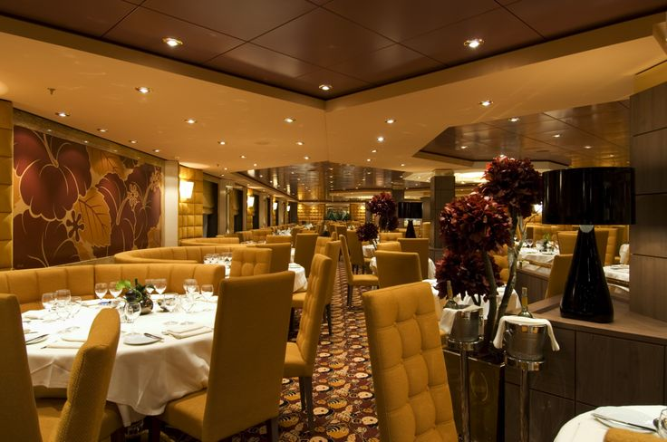 A beautiful, auburn hued #Ibiscus Restaurant on #MSCOrchestra