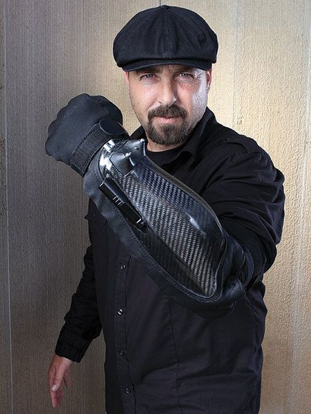 BodyGuard electro-gauntlet  (Future Tech?)  Combines laser pointer, video camera and taser to get you out of those tricky moments in life.