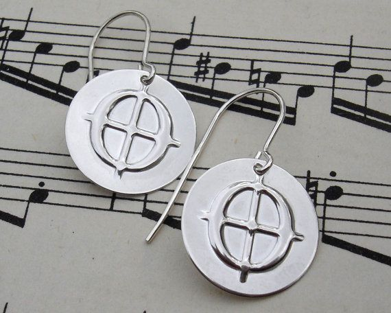 Coda Music Symbol Sterling Silver Earrings  by nicholasandfelice, $ 20.00