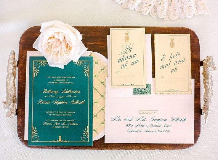 Like the Emerald and Vanilla colour palette and the lattice pattern envelope liner