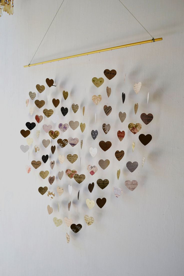 Large Love Letters Mobile Wall Hanging Unique Wedding Gift Guest Book Anniversary