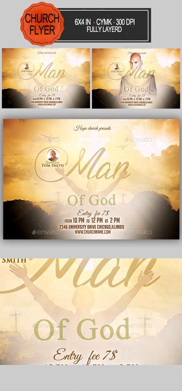 Man Of God #Church #Flyer - Church Flyers Flyer Templates