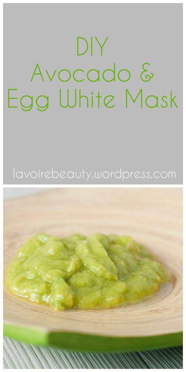 diy avocado and egg white mask good skin face pinterest. Black Bedroom Furniture Sets. Home Design Ideas