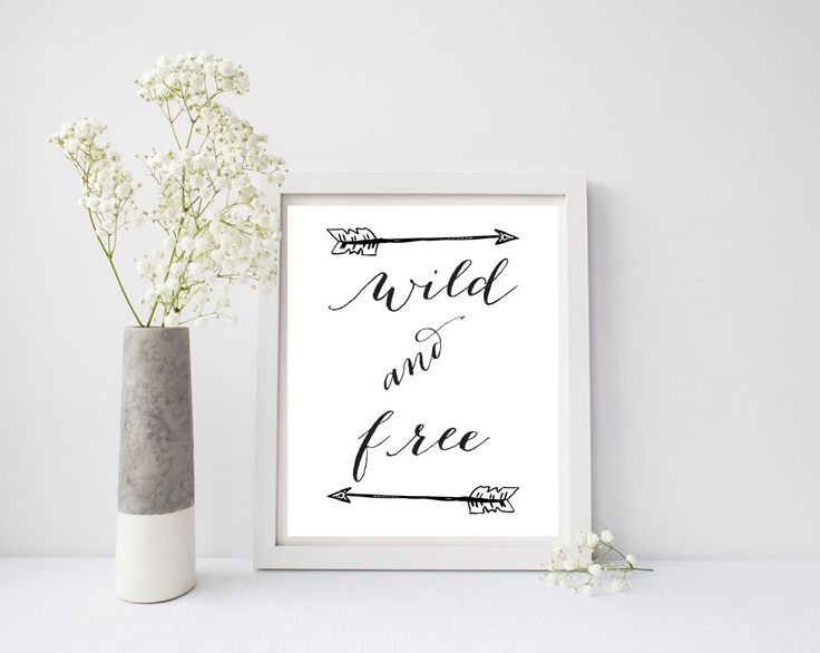 A personal favorite from my Etsy shop https://www.etsy.com/listing/485281163/nursery-print-wild-and-free-tribal-arrow
