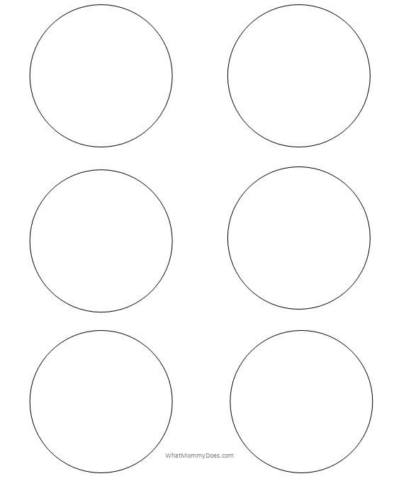 Number names worksheets circle print out free for Circle templates to print