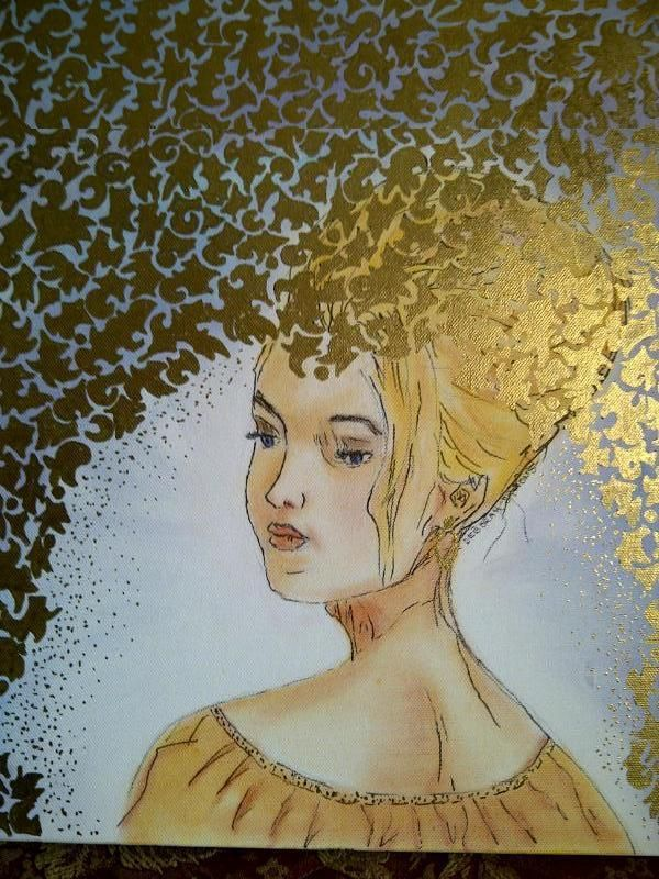 Golden Woman (mixed media)