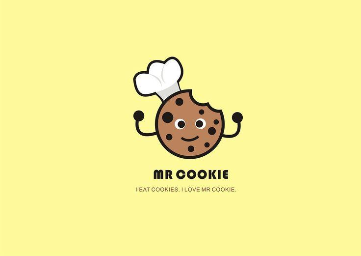 Mr Cookie Logo Cookies Branding Logo Design Inspiration