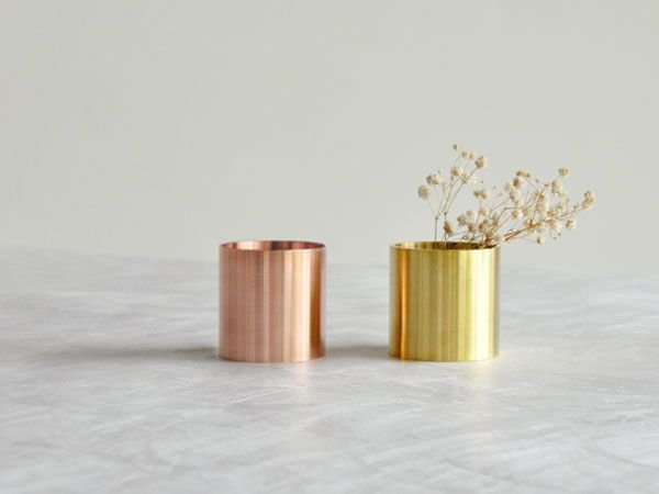 Copper and Brass Vases from The Workshop Gallery in home furnishings  Category