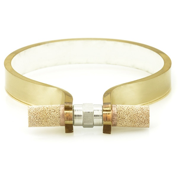 Cooee Gold Nut 10 Cuff ($105) ❤ liked on Polyvore
