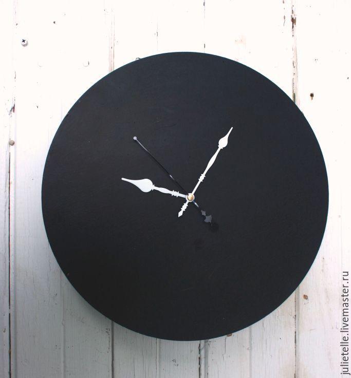 Купить Настенные часы - чёрно-белый, черные часы, настенные часы, Декор, декор стен